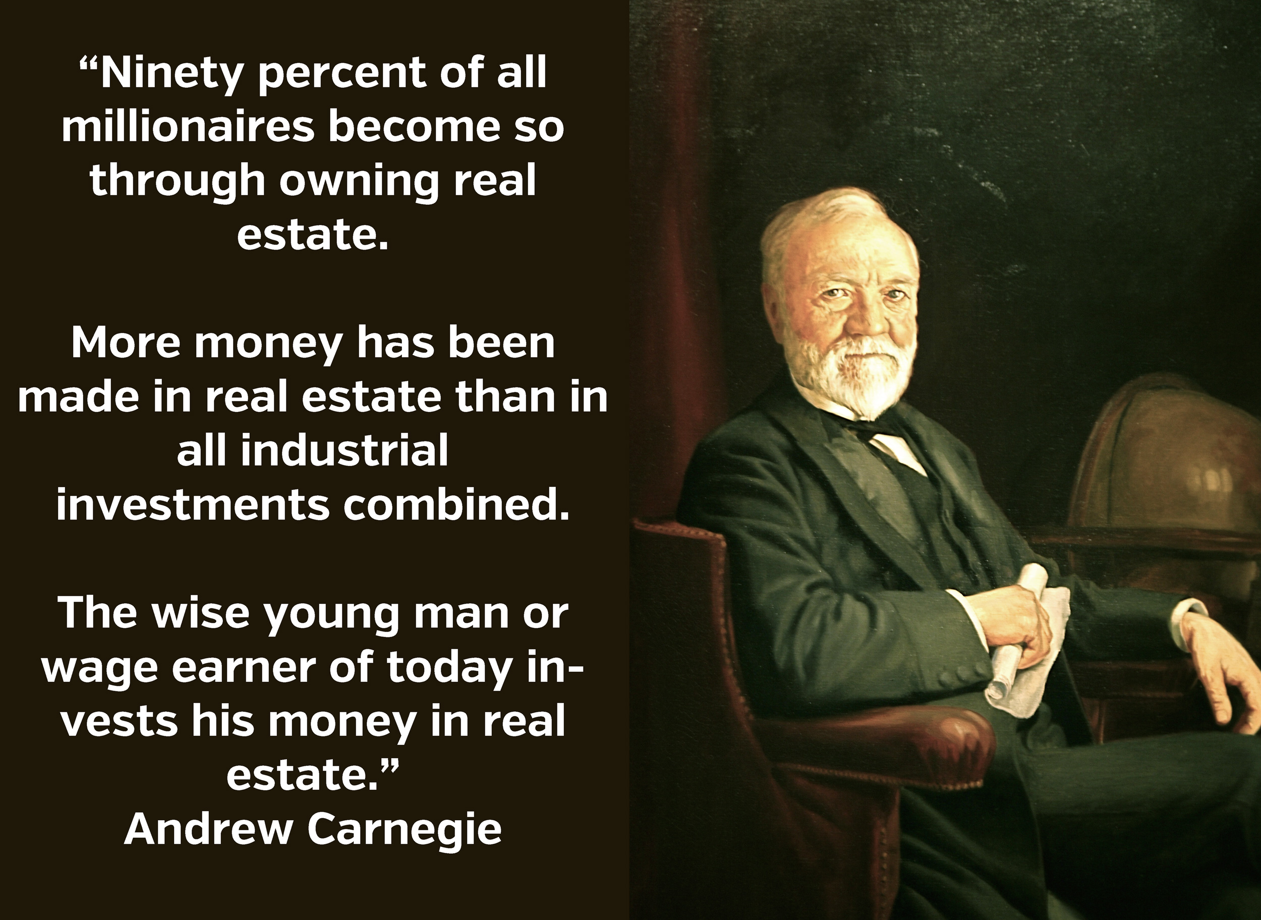 andrew carnegie and his advice on wealth It is only due to this that andrew carnegie had any wealth to pursue philanthropy who knows how many more millions of people would have been empowered had he kept his prodigious productive abilities in full gear.