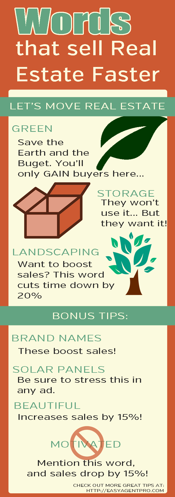 Want to sell more real estate? Check out this infographic of words the convert WAY more on the market