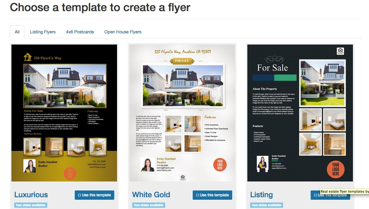 Free Real Estate Flyer Templates Download Print Today - Real estate brochure template free download