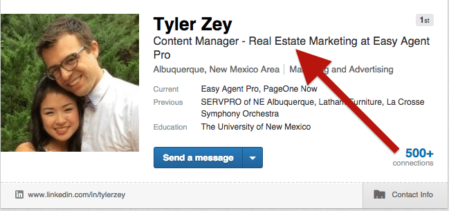 optimizing your linkedin profile for real estate agents