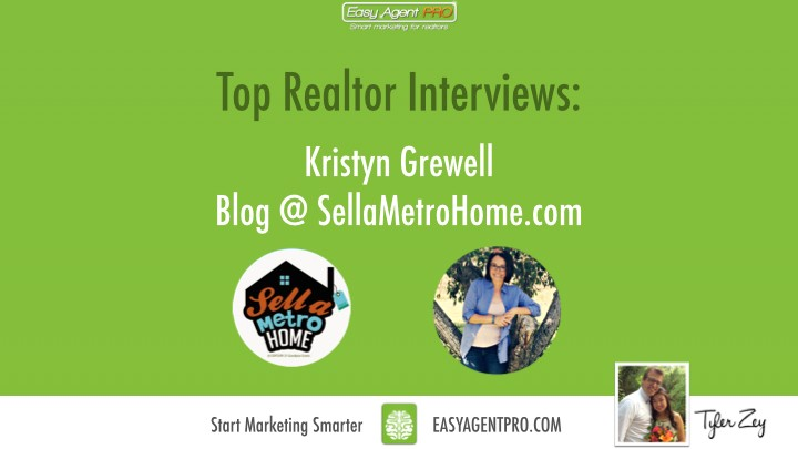 top realtor interview about blogging