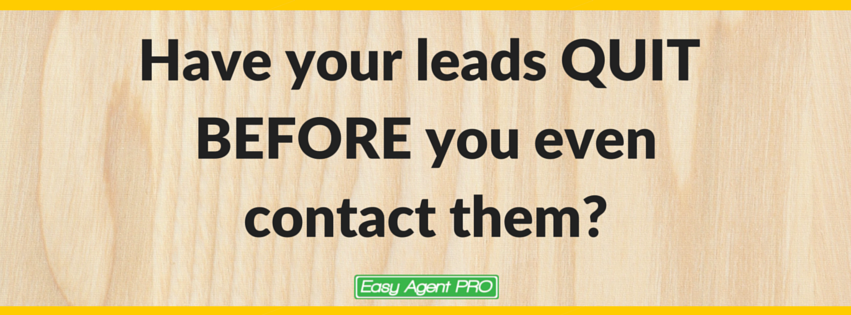 real estate websites - how to get your leads to respond