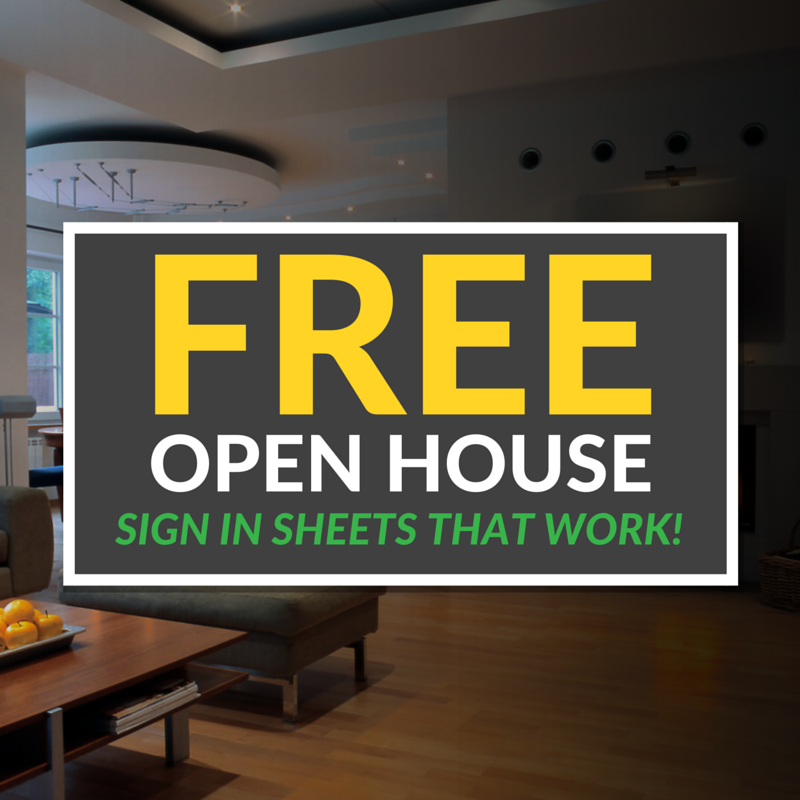 Open House Sign In Sheet Templates Free Printable