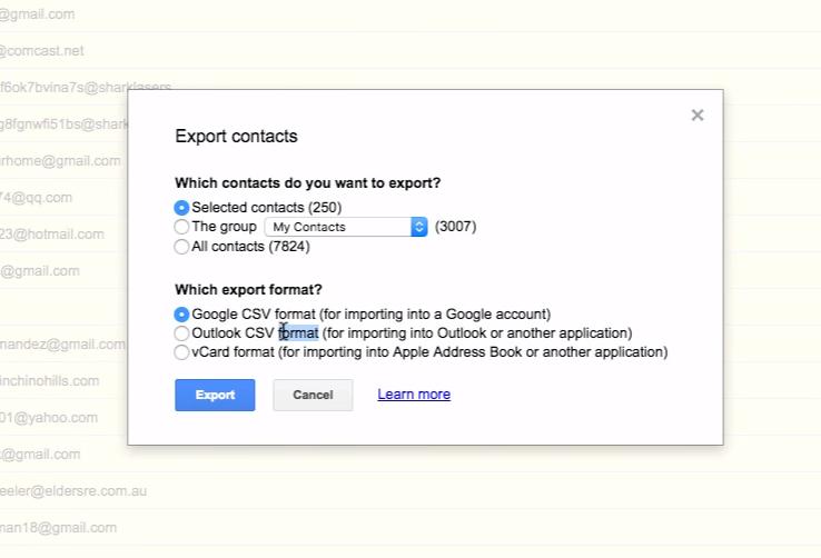 Export CVS