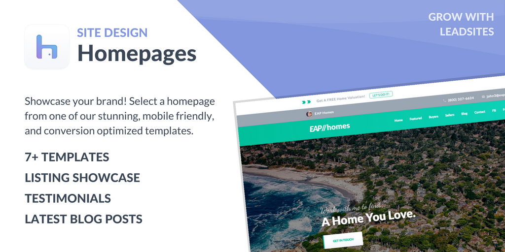 Homepages - LeadSites by Easy Agent PRO