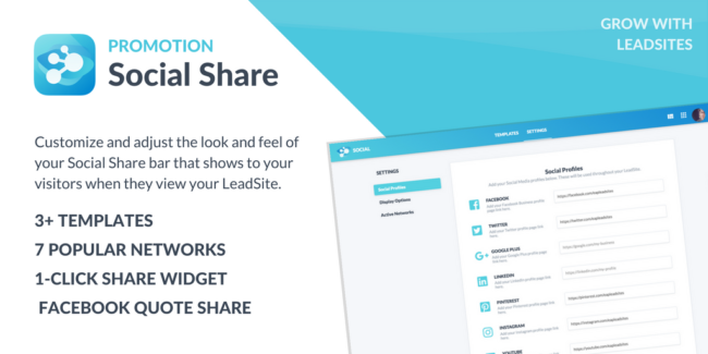 Social Share - LeadSites by Easy Agent PRO