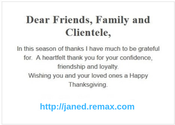 real estate holiday greetings - example email