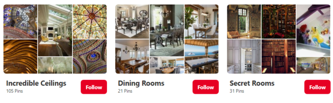 Real estate Pinterest boards