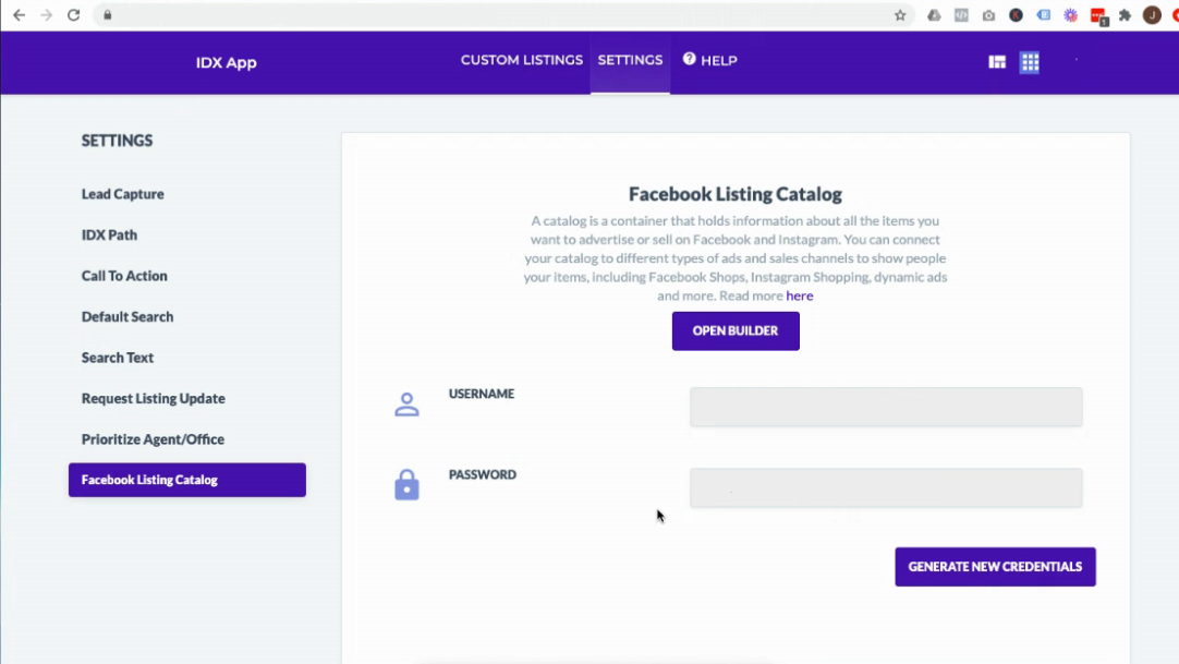 Facbook Catalog EAP Backend